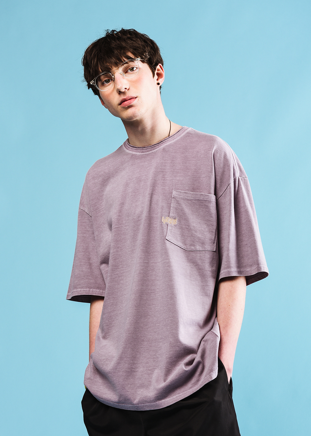 Adolescence half T-shirt [light purple]