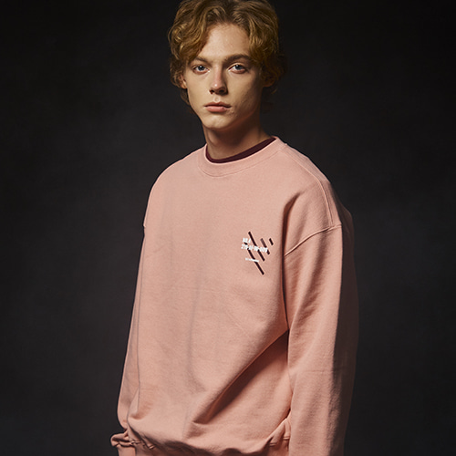 (기모) NO.4 SWEAT SHIRT (L.PINK)