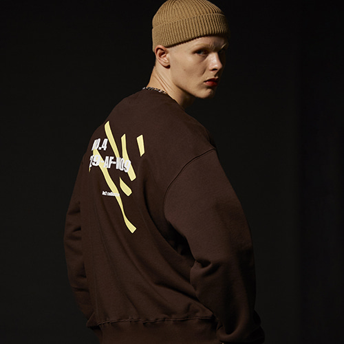 (기모) NO.4 SWEAT SHIRT (D.BROWN)