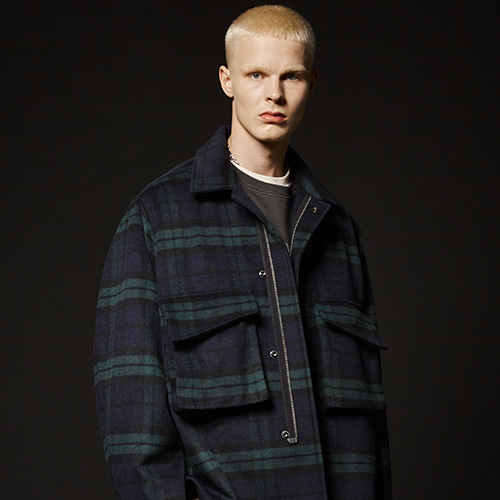 (WOOL) UTILITY JACKET (CHECK)