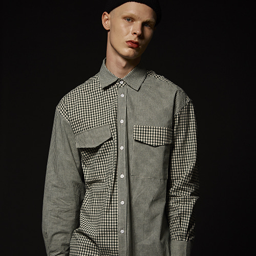 GINGHAM CRAZY SHIRT (GREEN)
