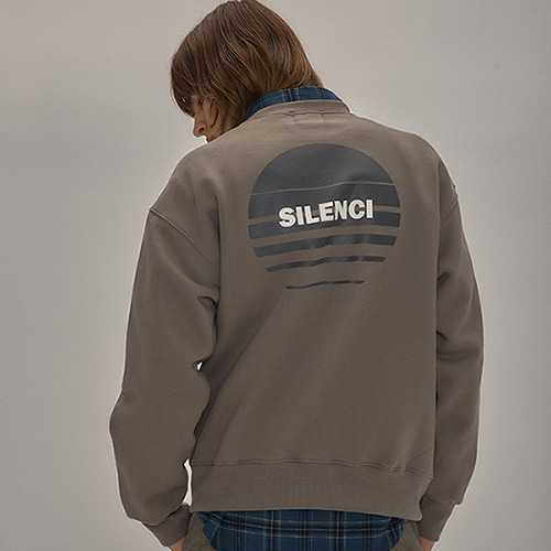 (기모) SILENCI SWEAT SHIRT(LIGHT KHAKI)