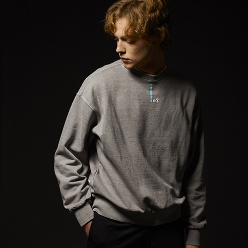 [준기모][피그먼트] ATHLETIC GARMENTS LE2 2 PIGMENT SWEAT SHIRT [D.GRAY]