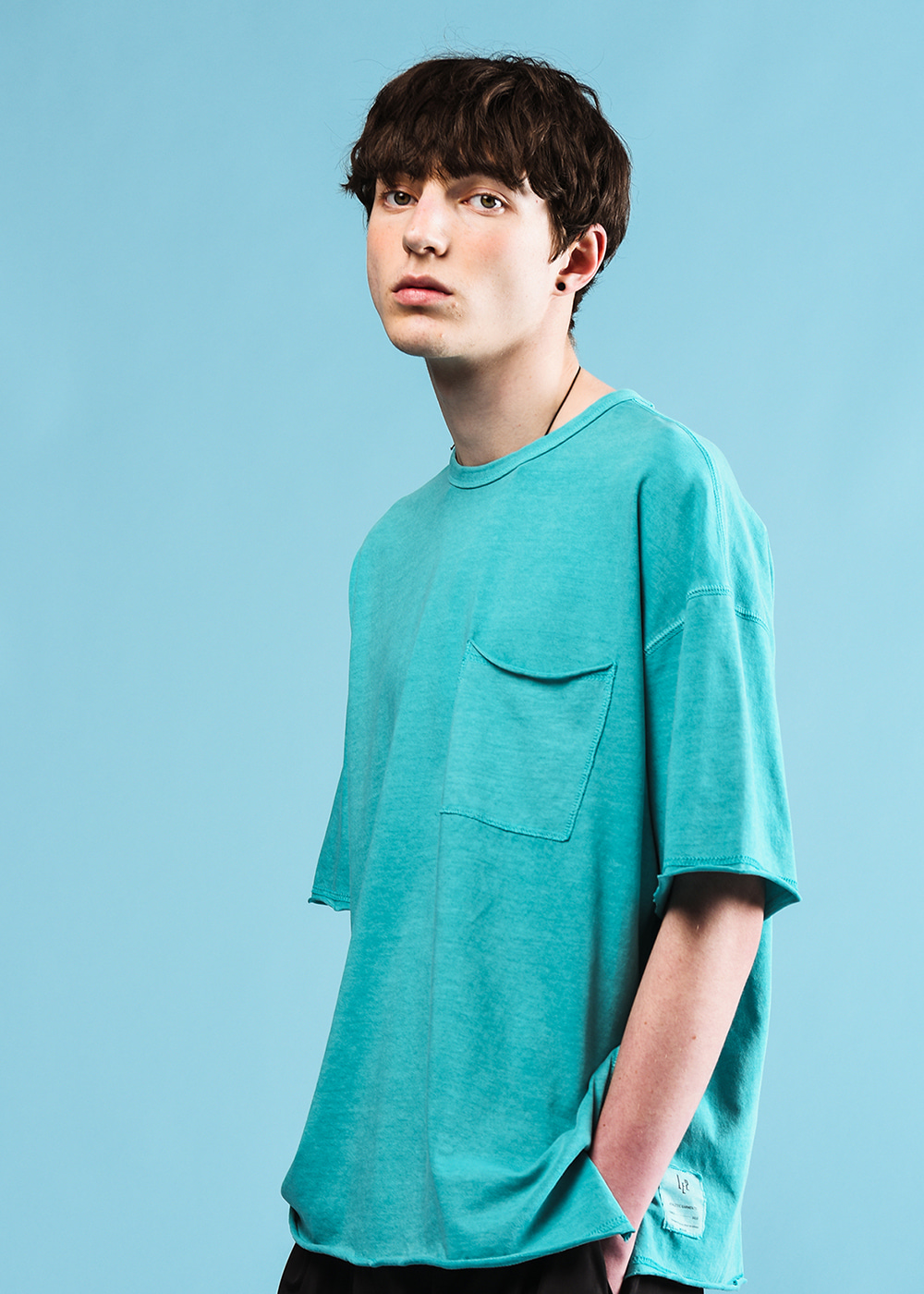 Stitches half T-shirt [mint]
