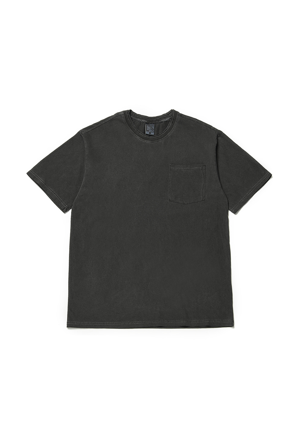 Double rib half T-shirt [black]