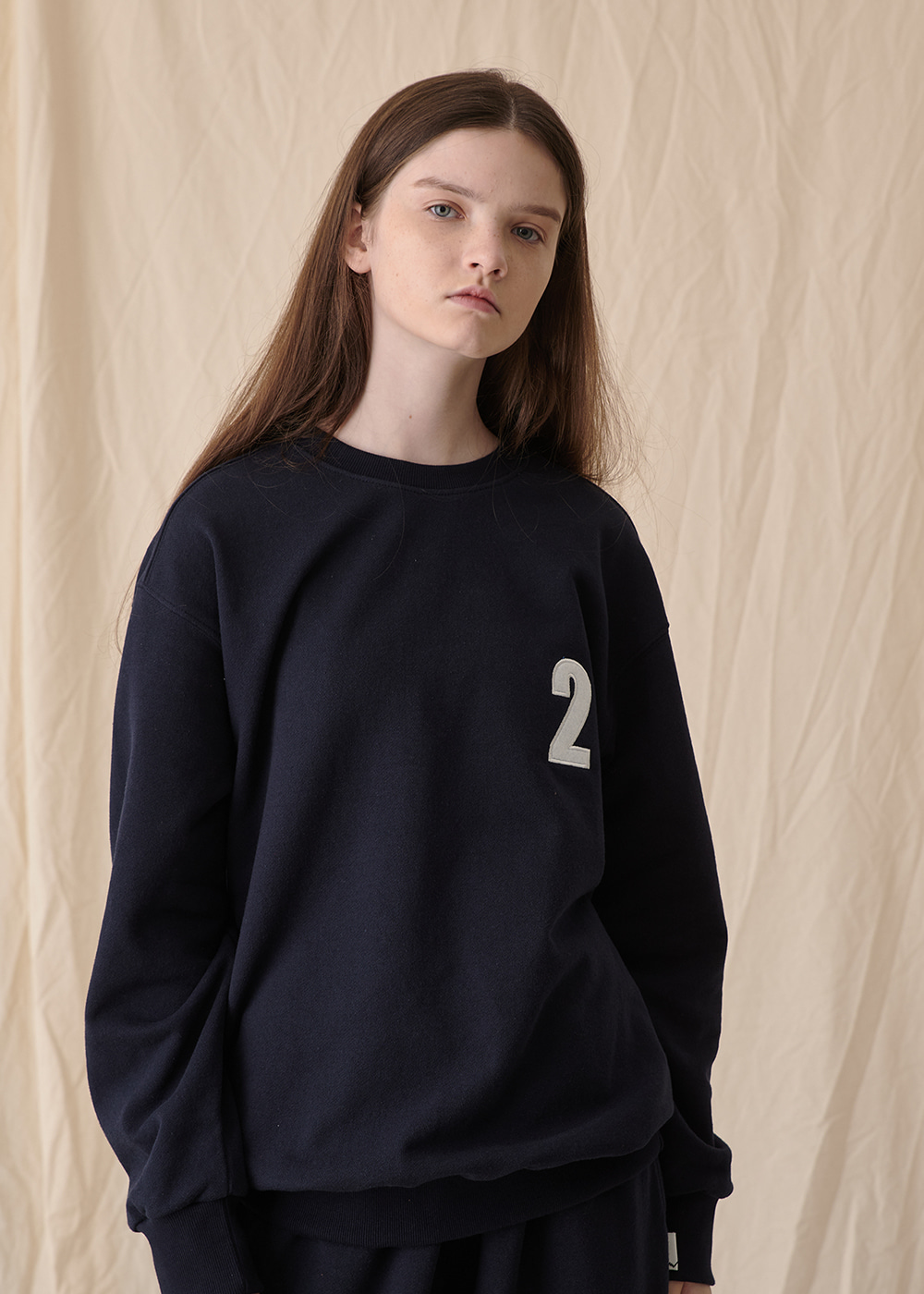 2 Logo sweat shirt [navy]