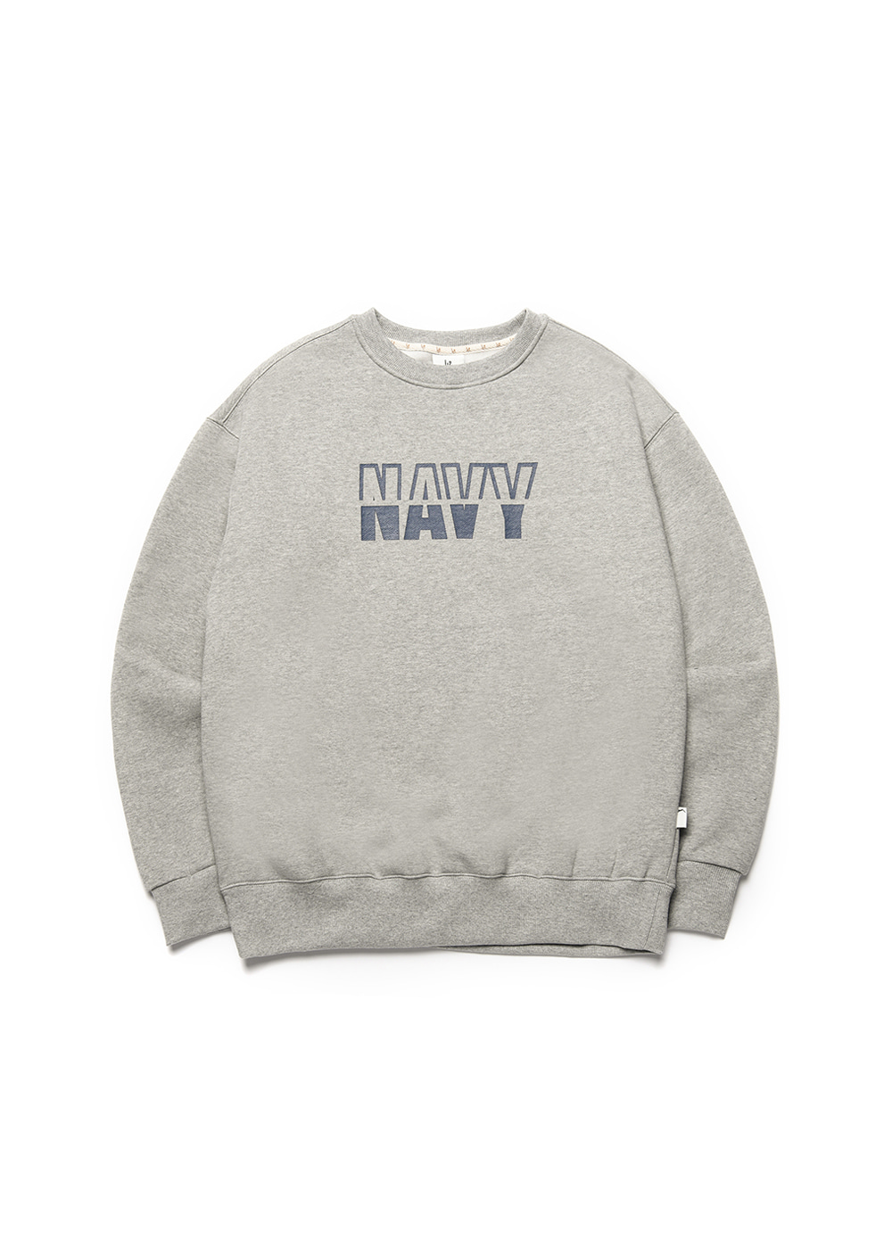 Navy sweat shirt [melange]