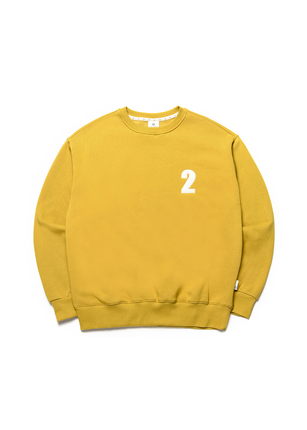 2 Logo sweat shirt [mustard green]