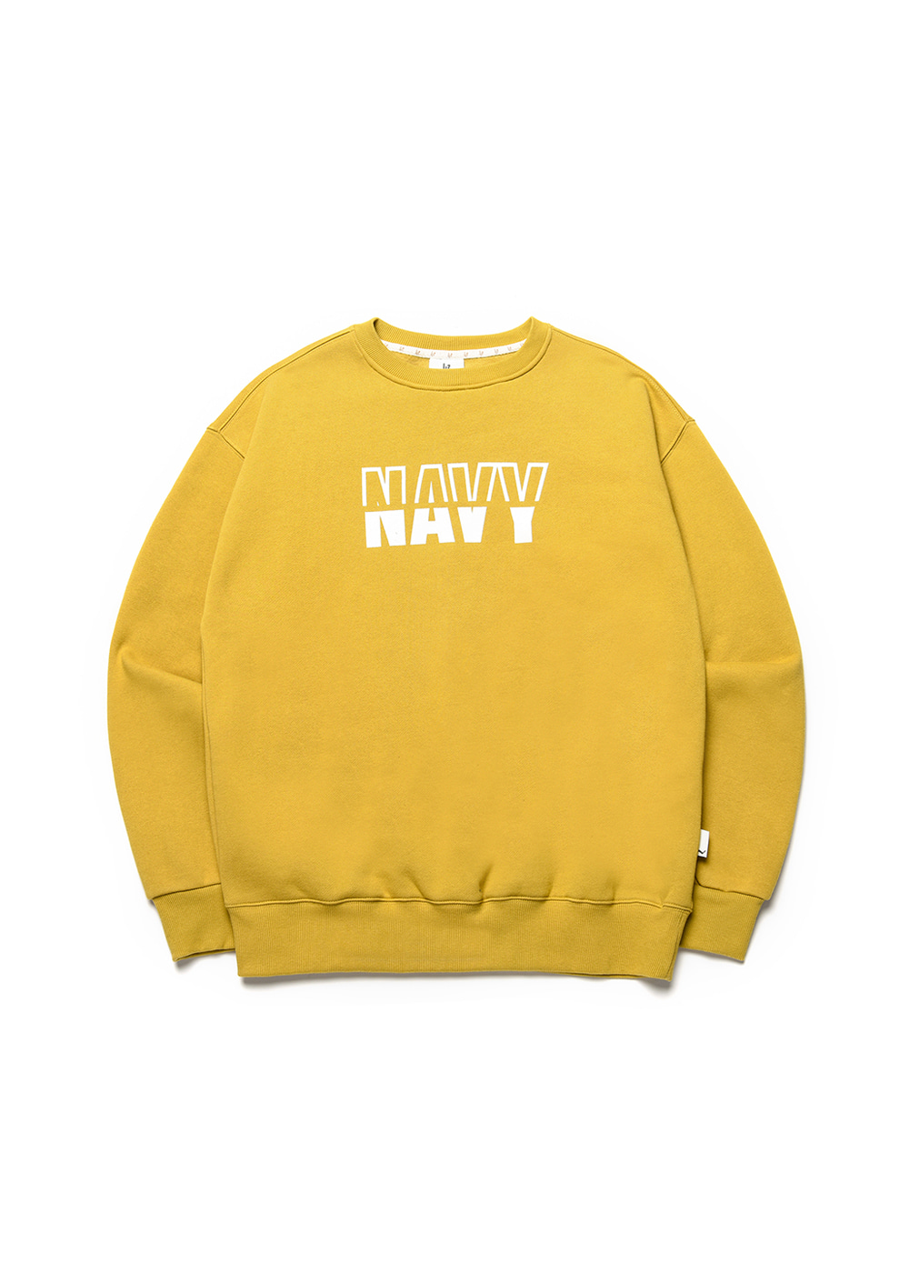 Navy sweat shirt [mustard green]