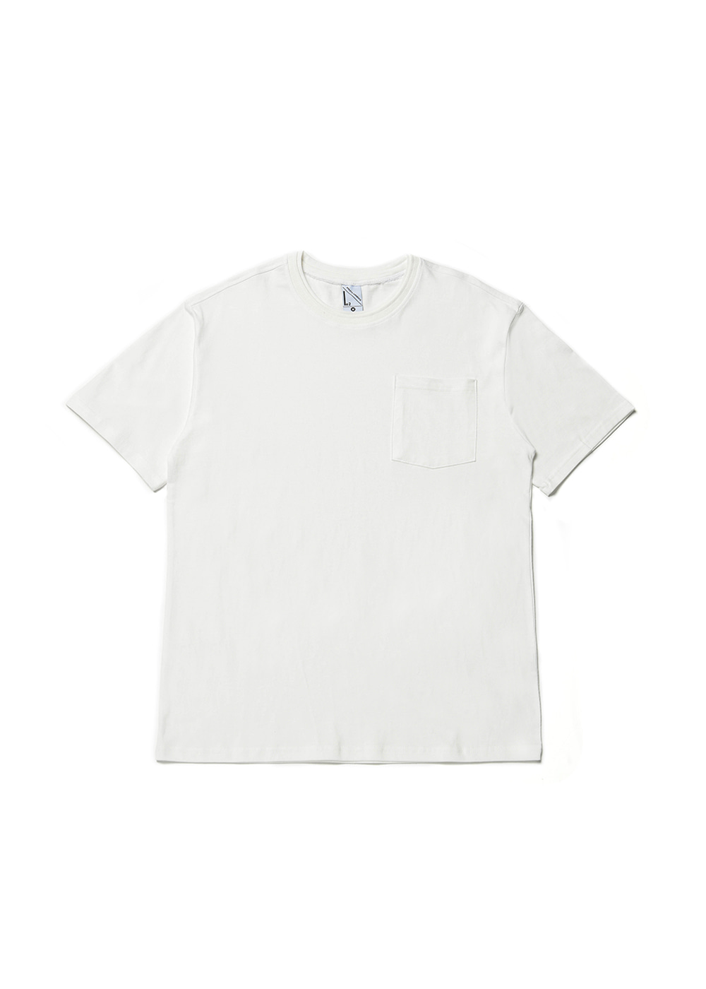 Double rib half T-shirt [off white]