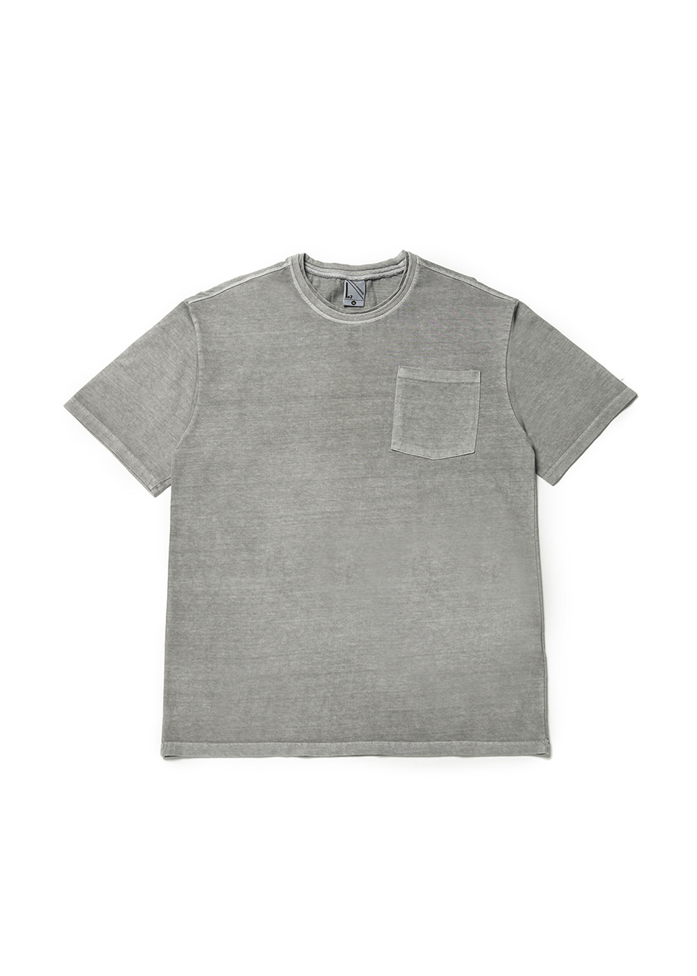 Double rib half T-shirt [gray]