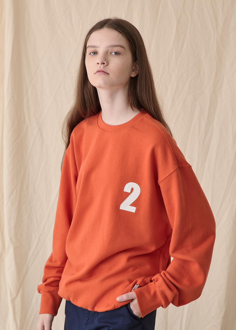 2 Logo sweat shirt [orange]